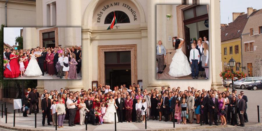 esküvői nagy csoportkép